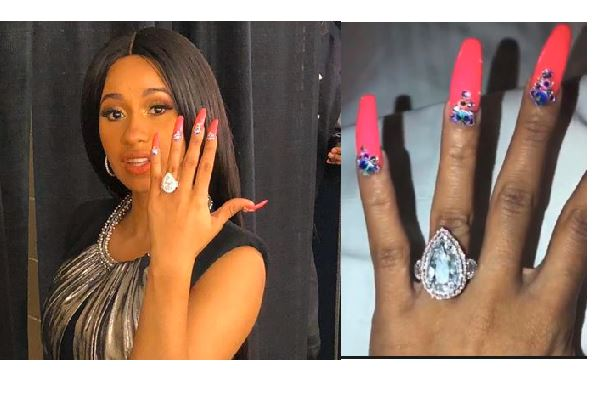 Cardi B's Engagement Ring Took A Month And Half To Make And It Is Worth $550,000