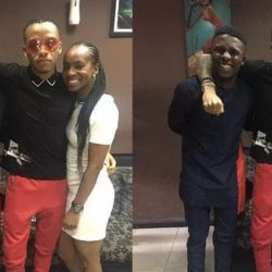 #BBNaija 2018: Ex Housemates Lolu And Anto meets with Singer Tekno