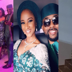 Banky W & Adesua look stunning at the traditional marriage of actress Zainab Balogun (Photos)