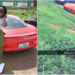Female Corper Steps Out With A Porsche For Clearance In Abuja (Photos)