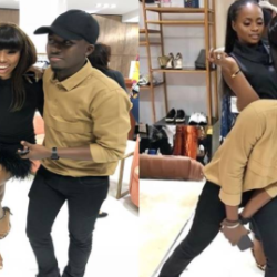 Bambam Flaunts Hot Legs As She And Lolu Meet Osinbajo's Daughter In Lagos (Photos)