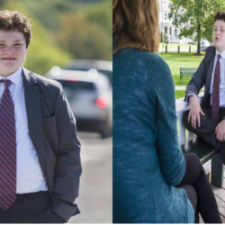 14-Year-Old Boy Running for Governor Of Vermont, United States (Photos)