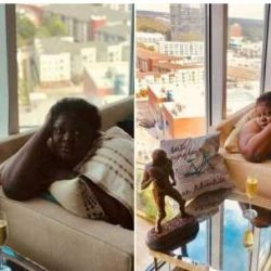 Actress Eniola Badmus Shares Semi-Nude Photos As She Vacations In Atlanta, Georgia