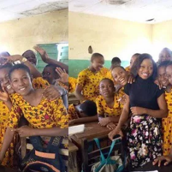 Photos of pupils' school uniform in Anambra State goes viral for obvious reason