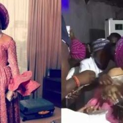 Going To Jail? Bobrisky Makes It Rain At Wedding (photos+video)