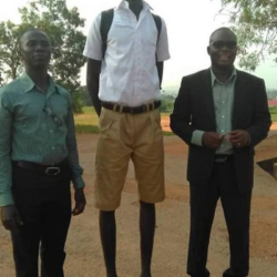 Pictures: Meet 14-year-old Ghanaian Student With An incredible Height