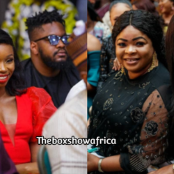President Buhari hosts Joke Silva, Alex Ekubo, Mercy Aigbe, Bambam, other entertainers in Aso Rock (photos)