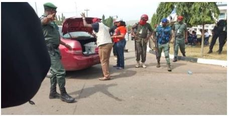 Drama As Woman Allegedly Gets Caught With Over 5000 PVCs In Abia State (Photos)